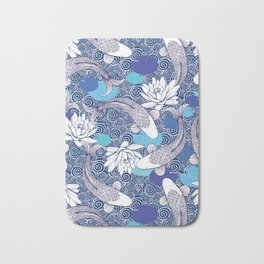 Blue Koi Ripples Bath Mat