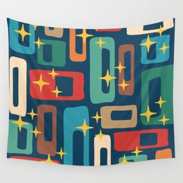Retro Mid Century Modern Abstract Pattern 221 Wall Tapestry