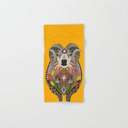 Aries ram saffron Hand & Bath Towel