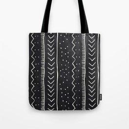 Moroccan Stripe in Black and White Tote Bag