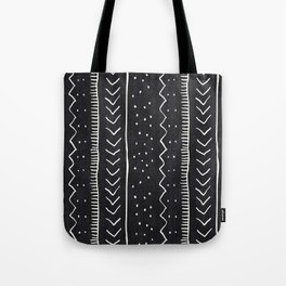 Moroccan Stripe in Black and White Tote Bag