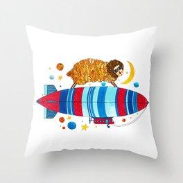 Farm animals in space - Sheep Throw Pillow