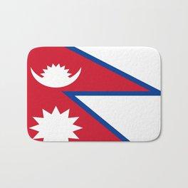 flag of nepal-nepal,buddhism,Nepali, Nepalese,india,asia,Kathmandu,Pokhara,tibet Bath Mat