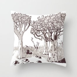 Quiver Tree Forest - Namibia Throw Pillow