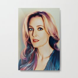 Gillian Anderson painting Metal Print