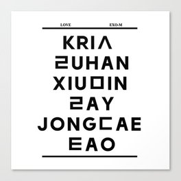 "EXO M- Hangeul: ""Love City"" Inspired Canvas Print"