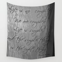 Oscar Wilde Quote Wall Tapestry