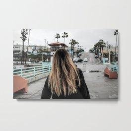 Blonde Beach Babe Metal Print