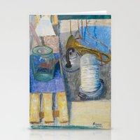 trumpet Stationery Cards featuring trumpet by Joasiekk
