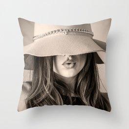 Beautiful Woman Throw Pillow