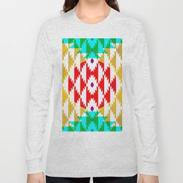 050 - traditional pattern interpretation with golden foil Long Sleeve T-shirt