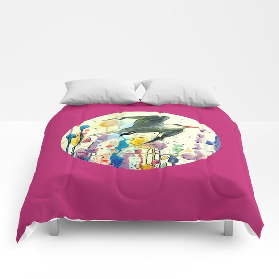 champs de mai Comforters