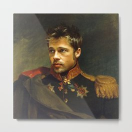 Brad Pitt - replaceface Metal Print