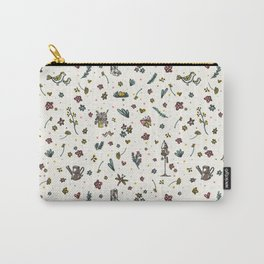 Trendy and Cute Gardening Flowers Bird Yard Carry-All Pouch