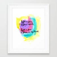 charlie brown Framed Art Prints featuring charlie brown / coldplay  by sarah duncan
