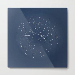 ARIES - Astronomy Astrology Constellation Metal Print