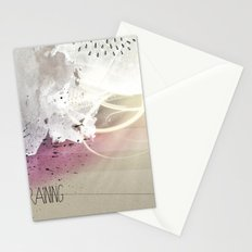 out in the rain Stationery Cards