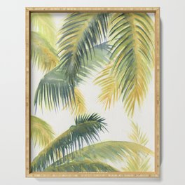 Tropical Palm Leaves Serving Tray