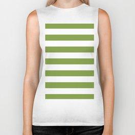 Green and White Stripes Biker Tank