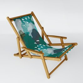 M+M Emerald Forest Bird's Eye View by Friztin Sling Chair