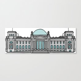 Reichstag building in Berlin Canvas Print