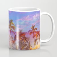 hawaiian Mugs featuring HAWAIIAN ESCAPE  by Lauren Taylor Creations
