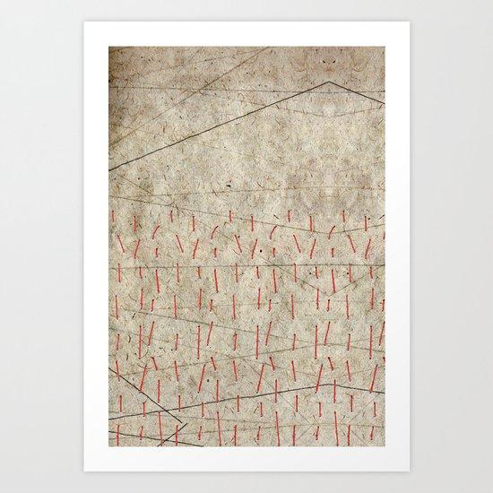 Stitch Landscape Art Print