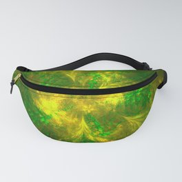 Abstract Green And Yellow Shape Fanny Pack