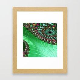Carnival Green Framed Art Print