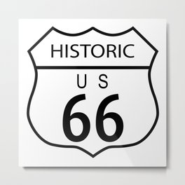 Route 66 Historic Metal Print