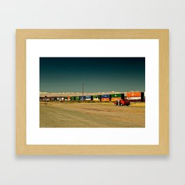 Red Challenger  Framed Art Print
