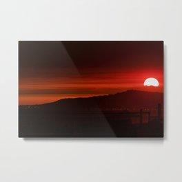 Modern Red Skies At Night Metal Print