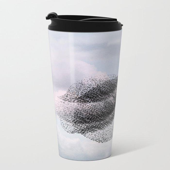 Swooping and looping version 2 Metal Travel Mug