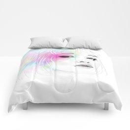 Pastel glowing Girl digital portrait Comforters