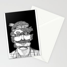 portrait of the artist as an unraveling drone Stationery Cards