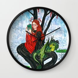 The Rowan tree sign Wall Clock