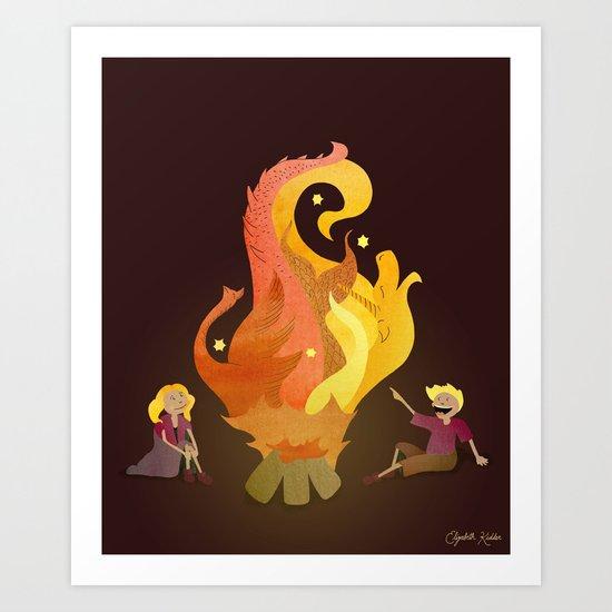 Campfire Magic Art Print