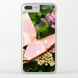 paper butterfly Clear iPhone Case