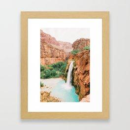 Havasu Falls / Grand Canyon, Arizona Framed Art Print