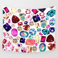 gem Wall Tapestries featuring GEM by Liz Haywood