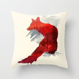 Fox Memories Throw Pillow