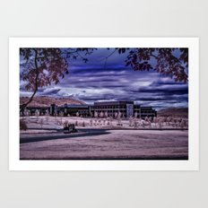 Martha Jefferson Hospital in Infrared Art Print