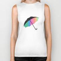 umbrella Biker Tanks featuring umbrella by Luna Portnoi