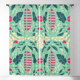 Vintage Floral Pattern 004 Blackout Curtain