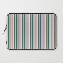 BARCODE STRIPE, TEAL AND PEACH Laptop Sleeve