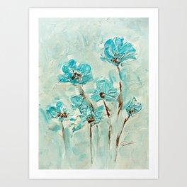 Flowers(vintage) Art Print