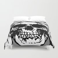 kindle Duvet Covers featuring 101 by ALLSKULL.NET