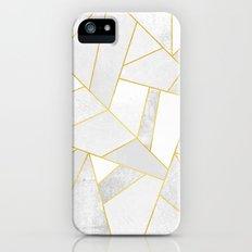 White Stone Slim Case iPhone SE