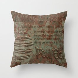Twain on Anger Throw Pillow