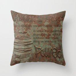 Twain on Anger Throw Pillow